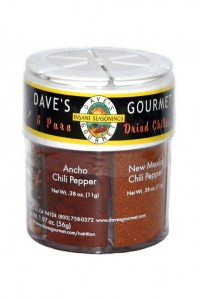 Daves 6 Dried Chile Pepper Shaker